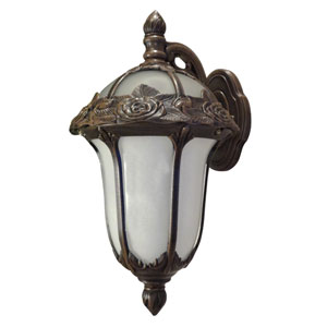 Rose Garden Small Top Mount Light with Alabaster Glass
