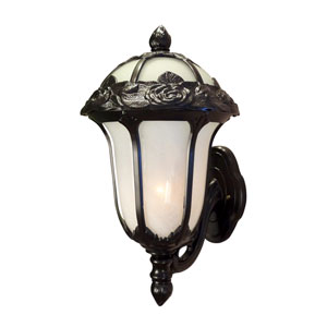 Rose Garden Small Bottom Mount Light with Alabaster Glass