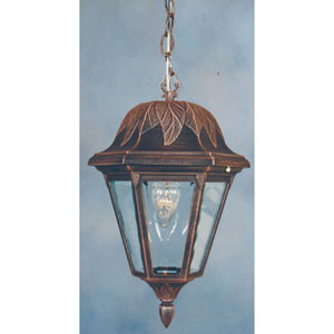 Floral Small Outdoor Hanging Pendant