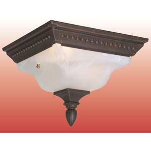 Abington Copper Outdoor Flush Ceiling Light