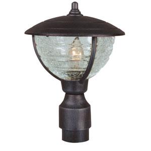 Vista Black Medium Post Mount Light