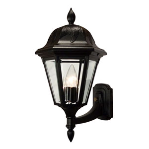 Floral Black Medium Bottom Mount Light – Short Tail