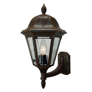 Floral Copper Medium Bottom Mount Light – Short Tail