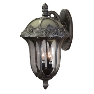 Rose Garden Swedish Silver Large Top Mount Light with Seedy Glass