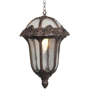 Rose Garden Large Pendant Light with Clear Seedy Glass