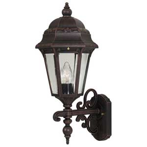 Astor Copper Large Outdoor Bottom Wall Mount