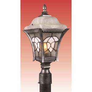 Abington Silver Large Outdoor Post Mount