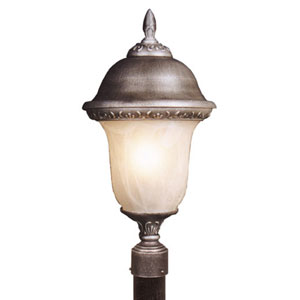 Glenn Aire Large Post Mount Light with Alabaster Glass