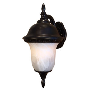 Glenn Aire Large Top Mount Light with Alabaster Glass