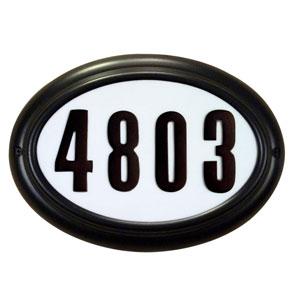 Kingsport Black Lighted Address Plaque