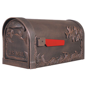 Hummingbird Copper Curbside Mailbox