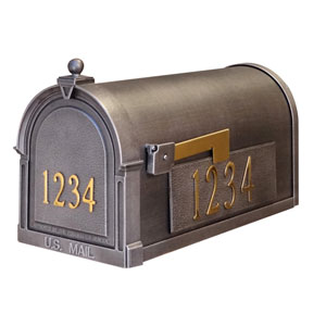 Berkshire Curbside Mailbox with Front and Side Numbers