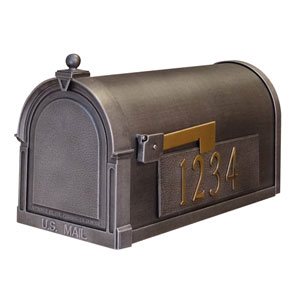 Berkshire Curbside Mailbox with Side Numbers
