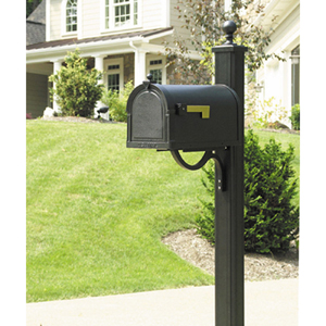 Berkshire Copper Curbside Mailbox with Main Street Mailbox Post Unit