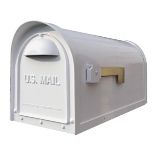 Classic White Curbside Mailbox