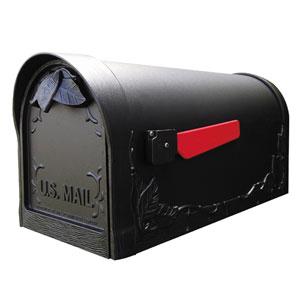 Floral Black Curbside Mailbox