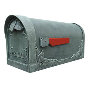 Floral Verde Curbside Mailbox
