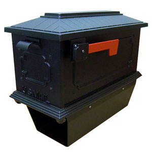 Kingston Black Curbside Mailbox with Paper Tube