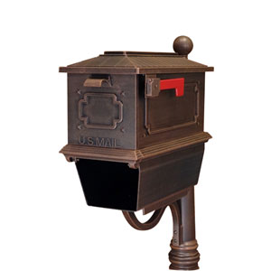 Kingston Copper Curbside Mailbox with Paper Tube