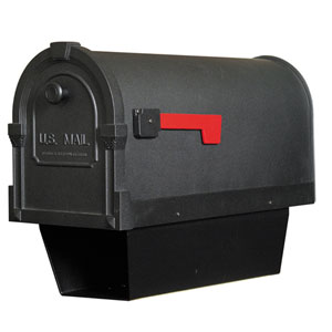 Savannah Black Curbside Mailbox with Paper Tube