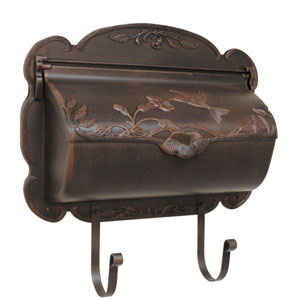 Hummingbird Copper Horizontal Mailbox