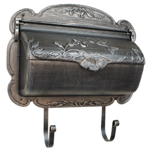 Hummingbird Swedish Silver Horizontal Mailbox