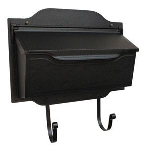 Contemporary Black Horizontal Mailbox