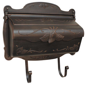 Floral Copper Horizontal Mailbox