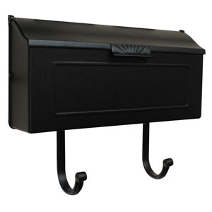 Horizon Black Horizontal Mailbox