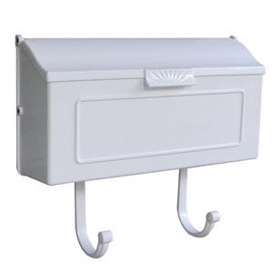 Horizon White Horizontal Mailbox