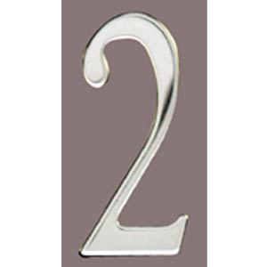 Stainless Steel 2-Inch House Number Two