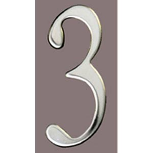 Stainless Steel 3-Inch House Number Three