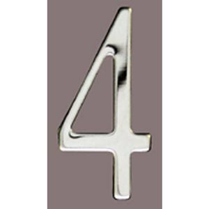 Stainless Steel 3-Inch House Number Four