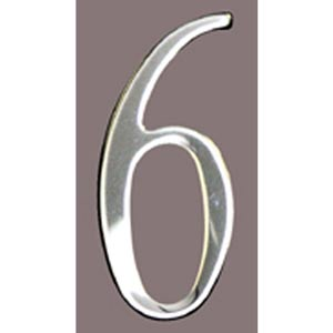 Stainless Steel 3-Inch House Number Six