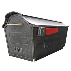 Town Square Swedish Silver Curbside Mailbox