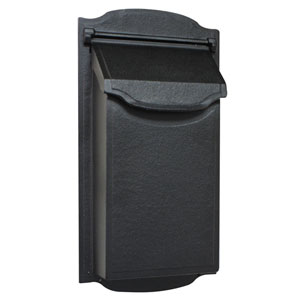 Contemporary Vertical Black Mailbox