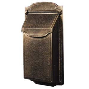 Contemporary Vertical Bronze Mailbox