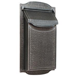 Contemporary Vertical Swedish Silver Mailbox