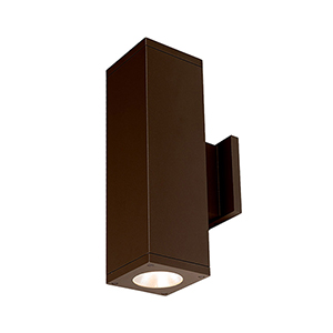Cube Architectural Bronze 6-Inch Two-Light 3500K LED 85 CRI 7413 Lumens Wall Light with 40  Degree Beam Spread