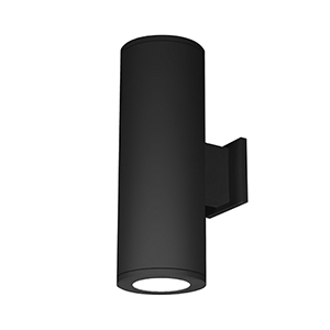 Tube Architectural Black 6-Inch Two-Light 3000K LED 85 CRI Wall Light with 6  Degree Beam Spread