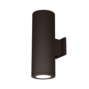 Tube Architectural Bronze 6-Inch Two-Light 3500K LED 85 CRI Wall Light with 6  Degree Beam Spread