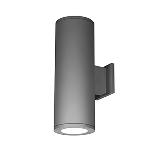 Tube Architectural Graphite 6-Inch Two-Light 3500K LED 85 CRI Wall Light with 6  Degree Beam Spread