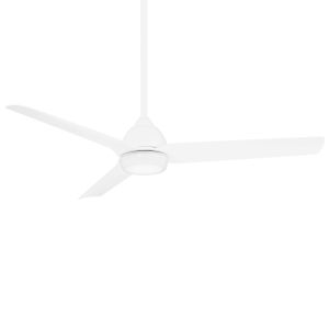 Mocha Matte White 54-Inch LED Ceiling Fan