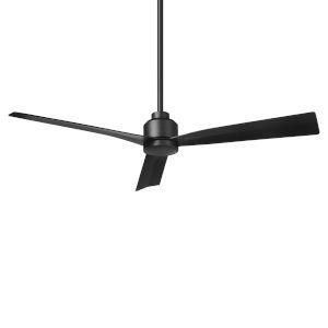 Clean Matte Black 52-Inch Ceiling Fan