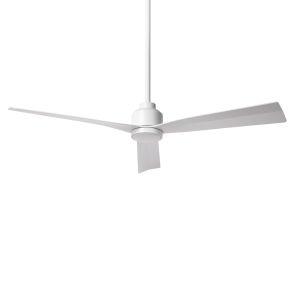 Clean Matte White 52-Inch Ceiling Fan