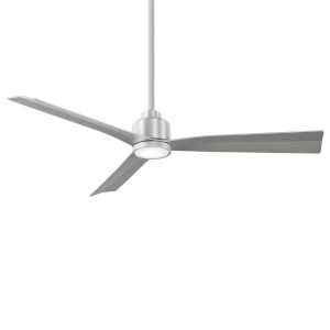 Clean Brushed Aluminum 52-Inch LED Ceiling Fan