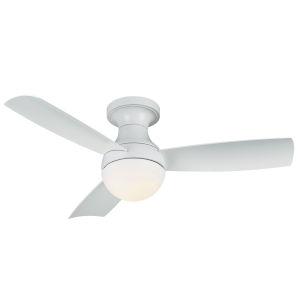 Orb Matte White 44-Inch LED Ceiling Fan