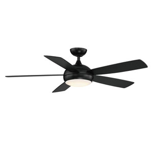 Odyssey Matte Black 52-Inch ADA Ceiling Fan with LED Light Kit
