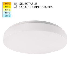 Blo White 15-Inch LED Flush Mount