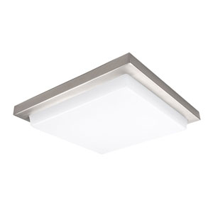 Metro Brushed Nickel 18-Inch 3000K LED ADA Flush Mount